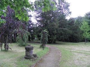 Foto Opfersäule im Park Heilsberg