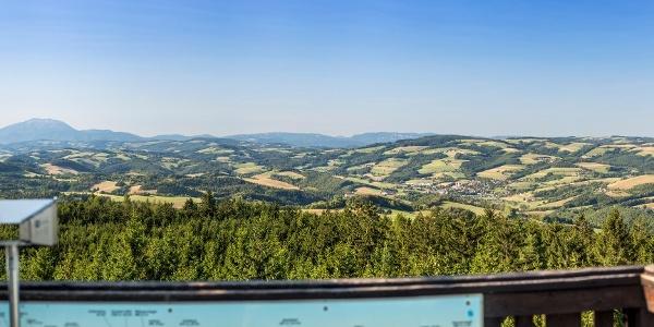 Ausblick von der Aussichtswarte am Hutwisch