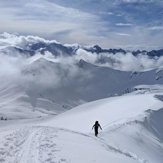 letzte Meter zum Gipfel
