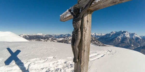 Herrgott am Gipfelkreuz