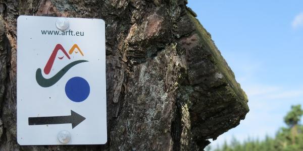 Markierungszeichen Historischer Schulweg Arft