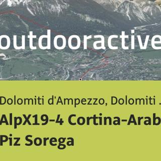 Mountainbike-tour in Dolomiti d'Ampezzo, Dolomiti Bellunesi: AlpX19-4 Cortina-Arabba via Piz Sorega