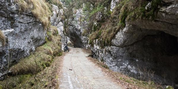Eine Strecke des Aufstiegs von Leano zu Passo Guil