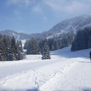 Bestens präparierter Winterwanderweg Hochhäderich