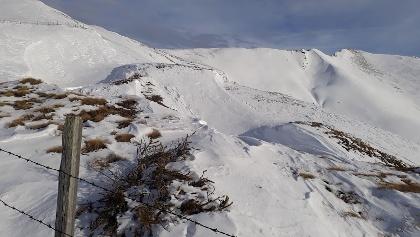 Blick zum Soldatenkreuz 2245m und Klomnock 2331m