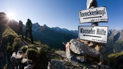 Edelhütte und Kasseler Hütte verbindet der Siebenschneidenweg