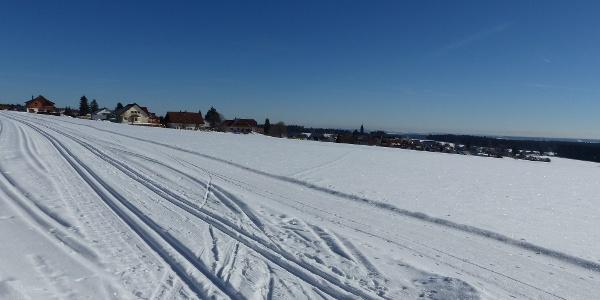 Die Rundloipe führt einmal rund um Simmersfeld