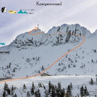 Topo Skitour auf die Kampenwand - Übersichtsbild