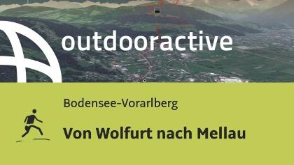 Trailrunning-Strecke in der Region Bodensee-Rheintal: Von Wolfurt nach Mellau