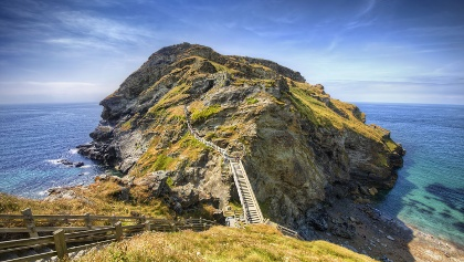 Ancient remains of King Arthur's Castle in Tintagel
