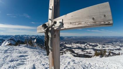 schönes Gipfelkreuz auf der Hochries