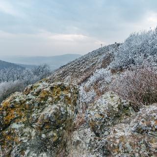 Tél a börzsönyi Kopasz-hegy csúcsánál