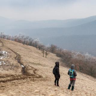A Sós-hegy lejtője télen