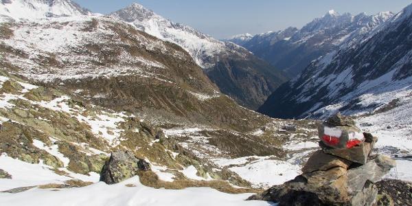Blick vom Wanderweg Eisgrat - Dresdner Hütte