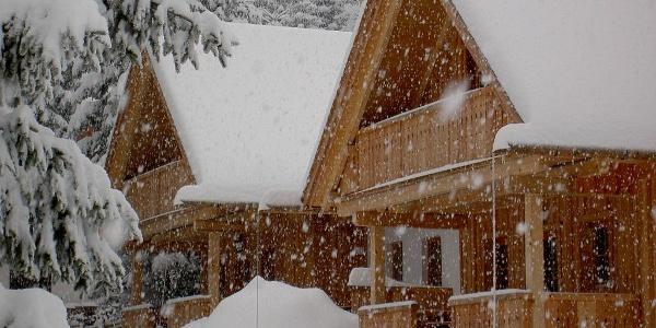Holzmeisterhütten im Winter