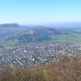 Blick vom Hohenstein über Gingen