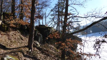 Spektakulärer Uferpfad auf der Nordseite