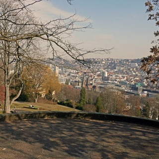 Am Aussichtspunkt Karlshöhe