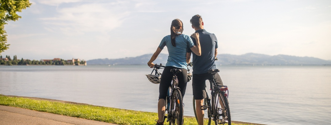 Fahrrad, Aussicht, Lindau, Bodensee