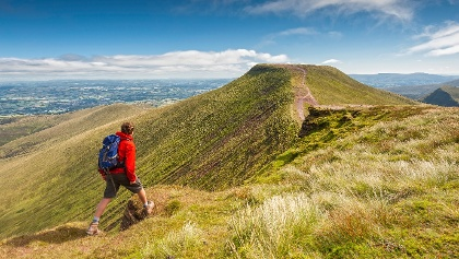 Auf dem Pen y Fan im Brecon Beacons Nationalpark