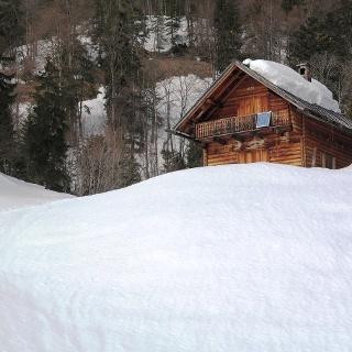 Die obere Hütte der Saiherbachalm.