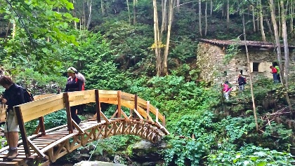 Überquerung des Rio Crosa kurz nach Becetto.