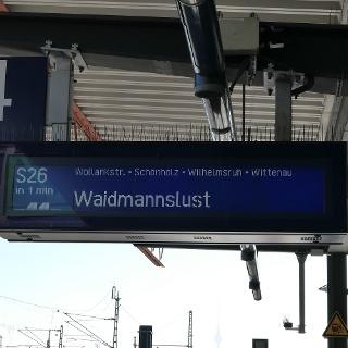 Ziel der S-Bahnfahrt, Start der NORD-Etappe