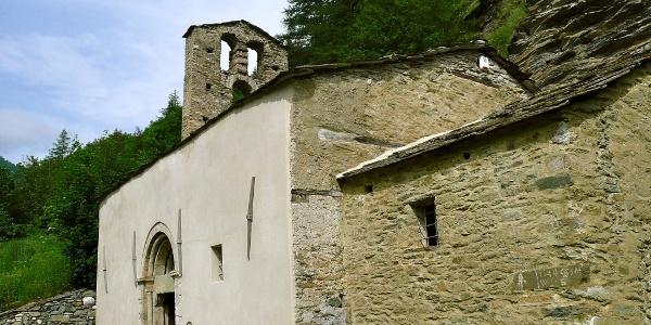 Die sehenswerte und älteste Kappelle im Varaita-Tal: S. Eusebio.