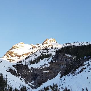Sonnenaufgang auf der Wasserfallkarspitze