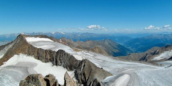 Müllerhütte vom Pfaffengrat aus gesehen