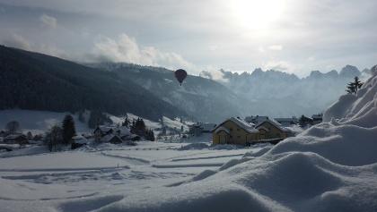 Einmaliges Winterpanorama mit Blick auf den Dachstein.
