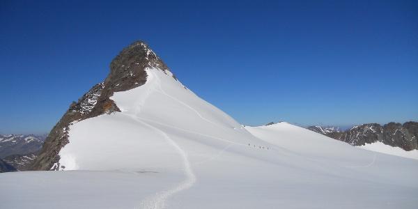 Zuckerhütl mit Blick Richtung Pfaffenjoch