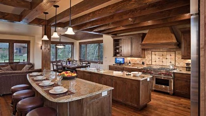 Kitchen at Sun Ridge Lodge in Steamboat Springs, Colorado