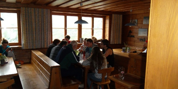 Gaststube der Gießener Hütte