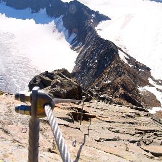 Müllerhütte vom Pfaffengrat gesehen