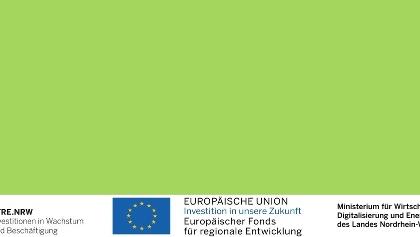 EFRE.NRW Förderungen  Logos mit grün