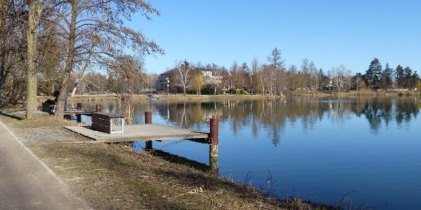 Csónakázó-tó, Szombathely - horgász-állások