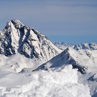 Gipfel Aussichten zum Piz Linard