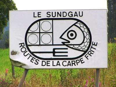 Sundgau: frittierte Karpfen