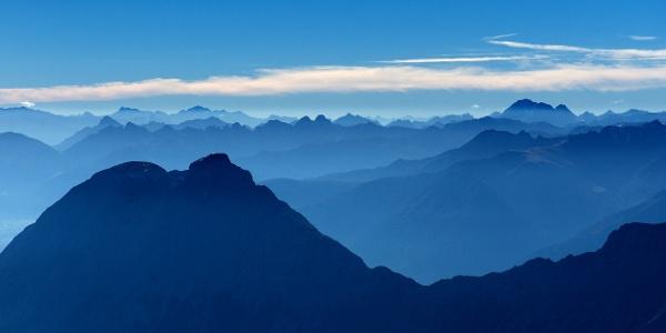 Blick über die Gipfel in Garmisch-Partenkirchen
