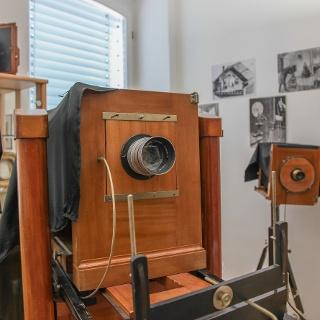 historische Kamera im Foto-Museum