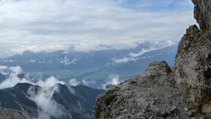 Ausgesetzte Passage am Freiunger Höhenweg
