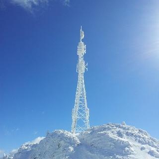 Sendemast am Gipfel