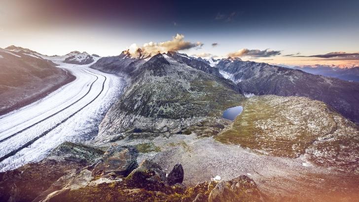 Eggishorn und Aletschgletscher