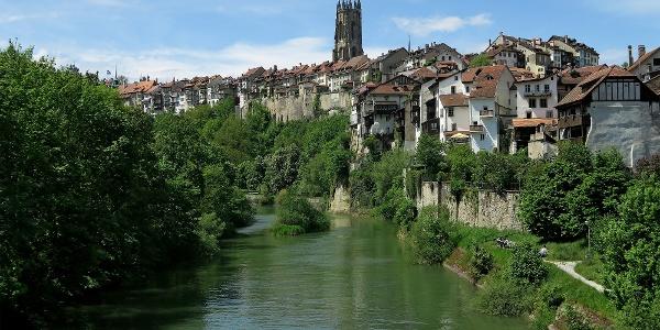 Altstadtkulisse von Fribourg.