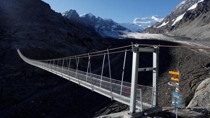 Hängebrücke von Corbassière