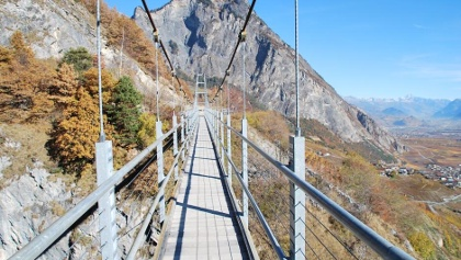 Hängebrücke von Farinet