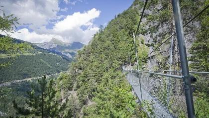 Hängebrücken der Suone des Torrent Neuf