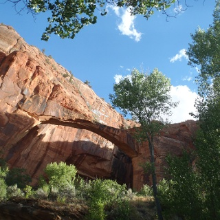 A natural arch along the Escalante River in Southern Utah