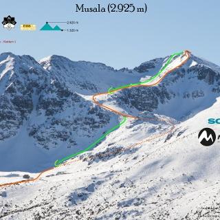 Skitour auf den Musala Übersichtsbild - Topo